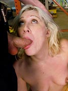 BDSM subslut Krissy Leigh forced to give blowjobs in public from Public Disgrace